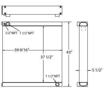 270544 - Industrial Oil Cooler Oil Cooler