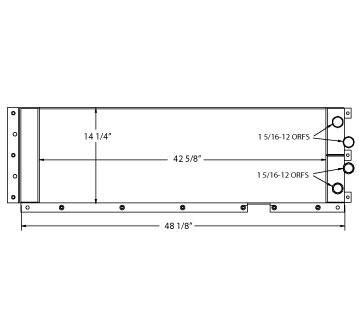 270550 - Case 921 Wheelloader  Oil Cooler