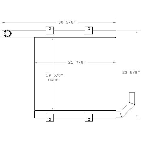 270553 - Case Oil Cooler 780B Oil Cooler