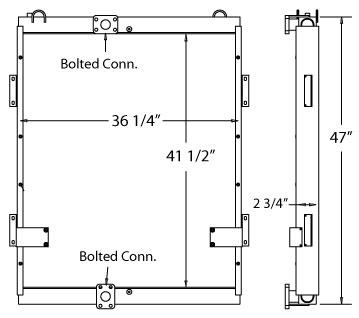 270554 - Excavator Oil Cooler Oil Cooler