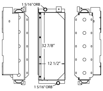 270559 - John Deere 850B Oil Cooler Oil Cooler