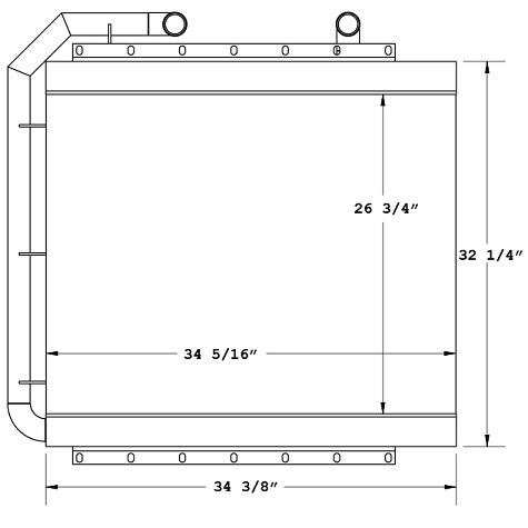 270560 - Industrial Oil Cooler Oil Cooler