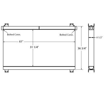 270562 - Industrial Oil Cooler Oil Cooler