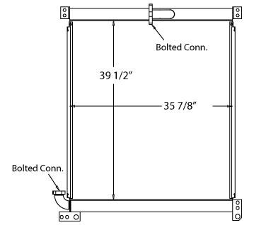 270563 - Hitachi / Komatsu Hydraulic Oil Cooler Oil Cooler