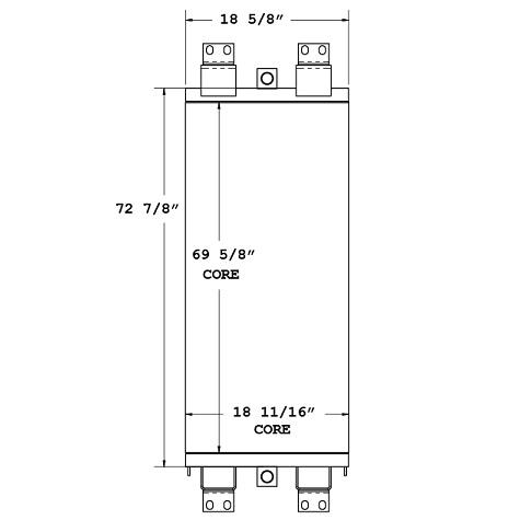 270564 - ATLAS COPCO / Ingersoll Rand T4 Drill Oil Cooler Oil Cooler