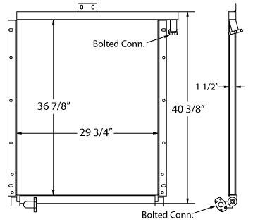 270567 - Industrial Oil Cooler Oil Cooler