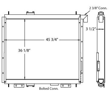 270568 - Hitachi 550-5 Oil Cooler Oil Cooler