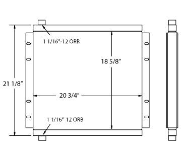 270569 - Industrial Oil Cooler Oil Cooler