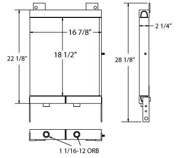 270571 - Industrial Oil Cooler Oil Cooler