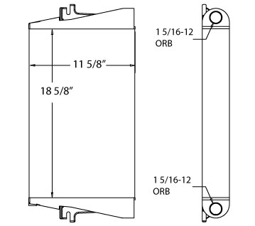 270573 - New Holland Backhoe Oil Cooler