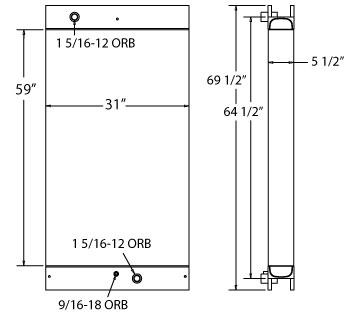 270574 - Industrial Oil Cooler Oil Cooler