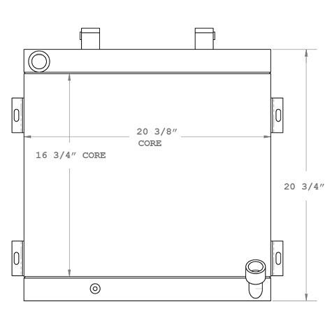 270575 - Komatsu WB140-2 Oil Cooler Oil Cooler