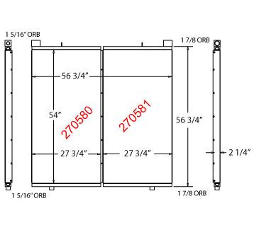 270580 - Industrial Oil Cooler Oil Cooler