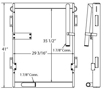 270582 - Samsung Excavator Oil Cooler