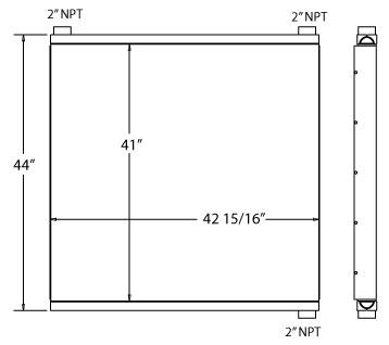 270583 - Ingersoll Rand Compressor Oil Cooler Oil Cooler