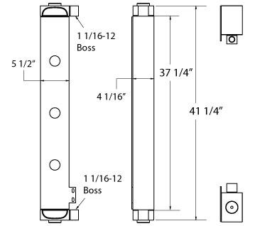 270597 - John Deere 850K Oil Cooler Oil Cooler