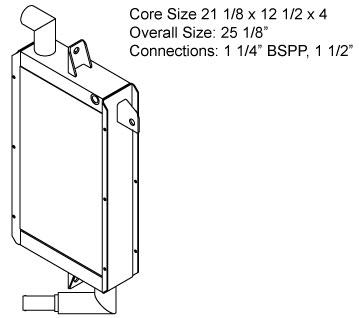 270598 - Industrial Oil Cooler Oil Cooler