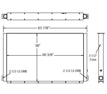 270600 - Sullair Compressor Oil Cooler Oil Cooler