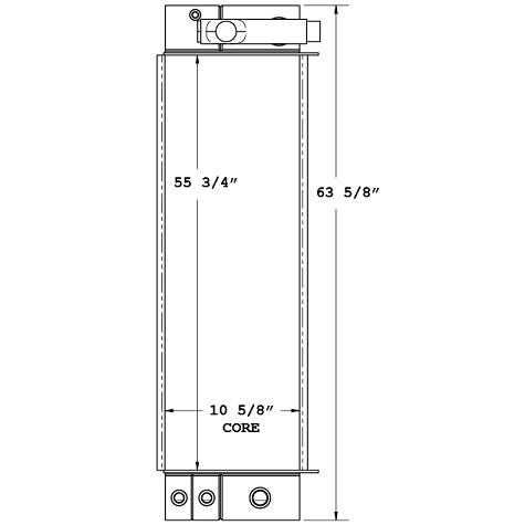 270601 - Morbark Chipper Oil Cooler Oil Cooler