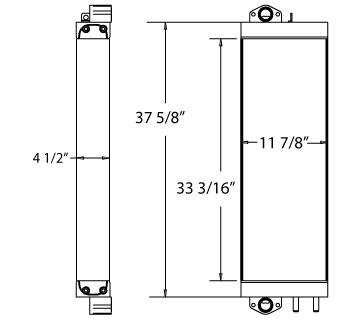 270602 - Komatsu PC228 2 Piece Hydraulic Oil Cooler Oil Cooler