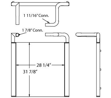270606 - John Deere 200LC Excavator Oil Cooler Oil Cooler