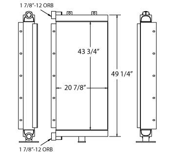 270608 - Ingersoll Rand Oil Cooler Oil Cooler