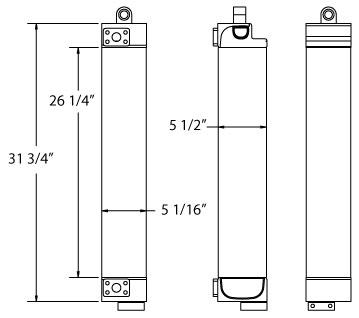 270614 - Caterpillar 955L Oil Cooler Oil Cooler