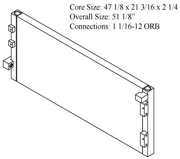 270623 - Caterpillar 982M,980M,980L Oil Cooler Oil Cooler