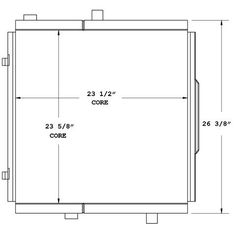 270628 - Industrial Double Oil Cooler  Oil Cooler