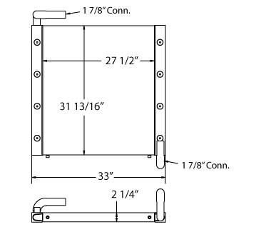 270633 - Komatsu Wheelloader Oil Cooler Oil Cooler