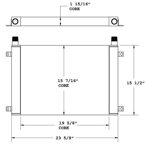 27-0636 - Industrial Oil Cooler Oil Cooler