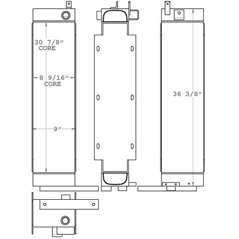 270643 - AGCO RoGator Oil Cooler Oil Cooler