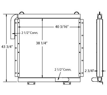 270648 - Kobelco K916 Oil Cooler Oil Cooler