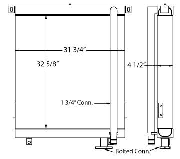 270654 - Hitachi UH122 Oil Cooler Oil Cooler