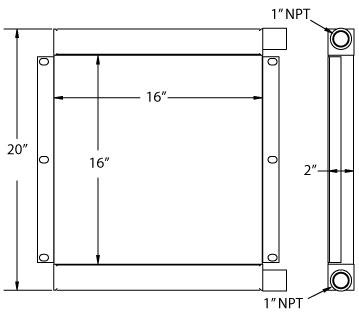 270657 - Industrial Oil Cooler Oil Cooler