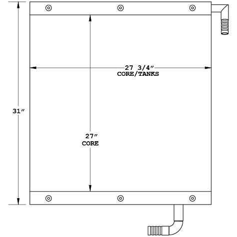 270659 - Case 9020B Oil cooler Oil Cooler