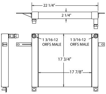 270664 - Industrial Oil Cooler Oil Cooler