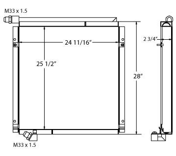 270666 - Komatsu PC150-5 Oil Cooler Oil Cooler