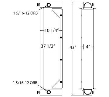 270667 - Case 1550 Transmission Oil Cooler Oil Cooler
