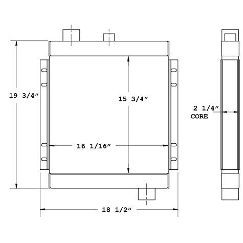 270669 - AKG / Elgin Broom Bear Series H Oil Cooler Oil Cooler