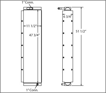 270676 - John Deere 824J Oil Cooler Oil Cooler