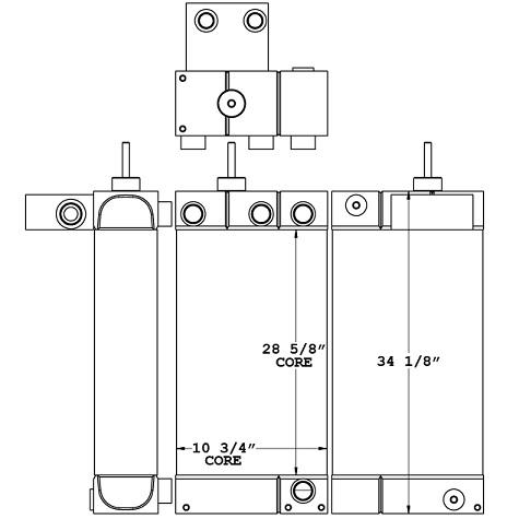 270681 - Caterpillar TL1055C Telehandler Oil Cooler