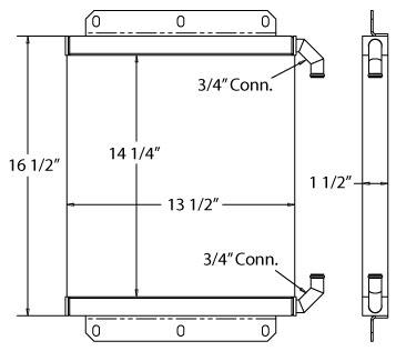 270682 - Industrial Oil Cooler Oil Cooler