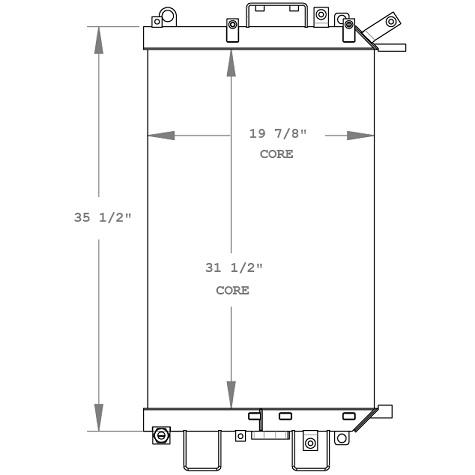 270698 - Komatsu D31, D37, D39, Bulldozer Oil Cooler Oil Cooler
