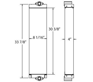 270705 - Komatsu Oil Cooler Oil Cooler