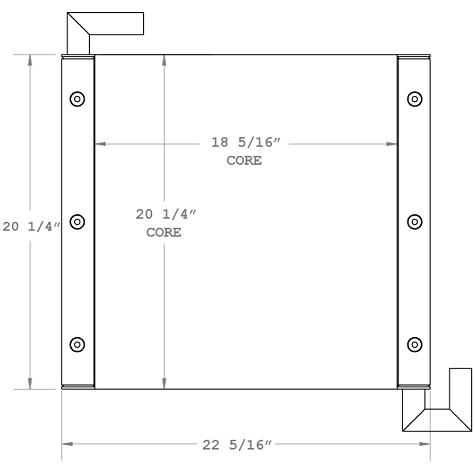 270710 - Hitachi EX60-5, EX60-5LC, EX80-5 Oil Cooler Oil Cooler