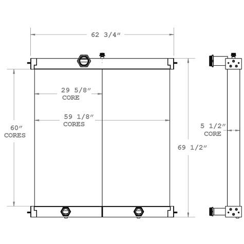 270711 - Industrial Oil Cooler Oil Cooler