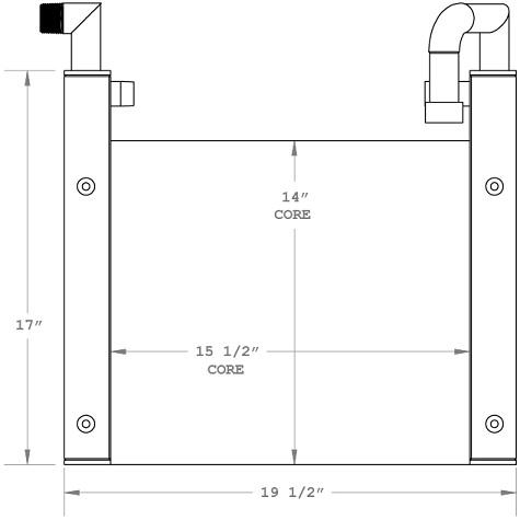 270712 - IHI Mini Excavator Oil Cooler