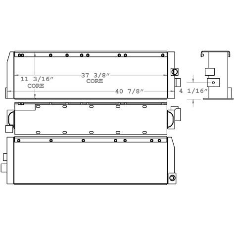 270716 - John Deere 755 Loader Oil Cooler Oil Cooler