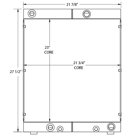 270724 - Case 21E Oil Cooler Oil Cooler